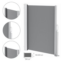 Awnings AMARETTO - lateral cover (side screen)