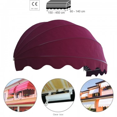 Awnings CANOPY - classic, retractable, rounded