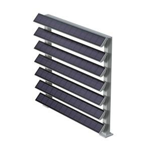 Photovoltaic facade system (Facade shutters) SOLARBREAKER